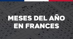 Los meses del año en francés